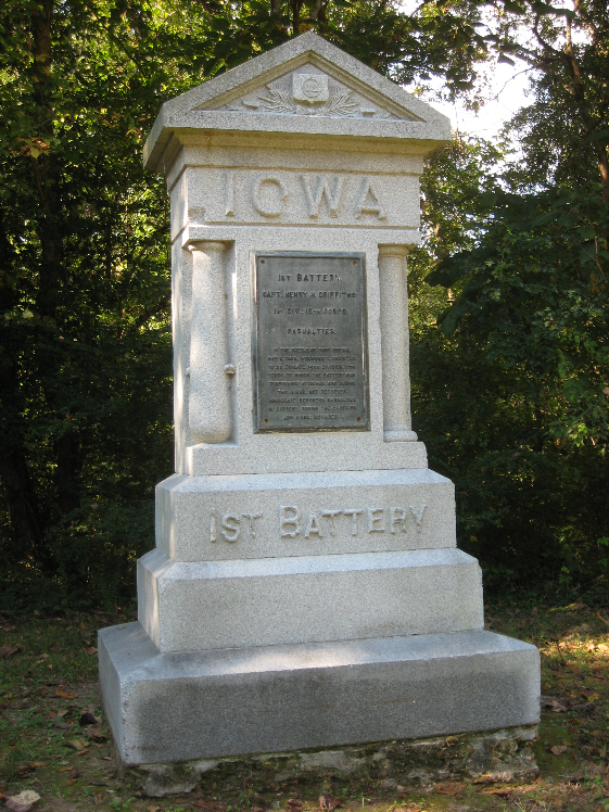 Monument for Iowa 1st Battery