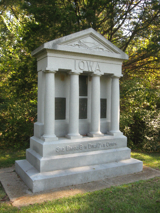 Monument for Iowa 11th, 13th, 15th and 16th Infantry Regiments