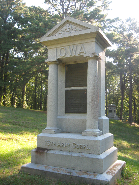 Monument for Iowa 6th and 40th Infantry Regiments