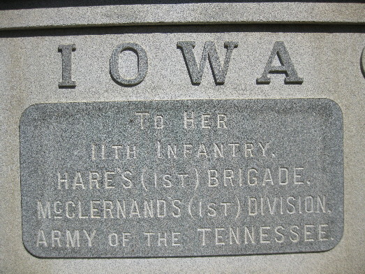 Iowa 11th Infantry Regiment Monument