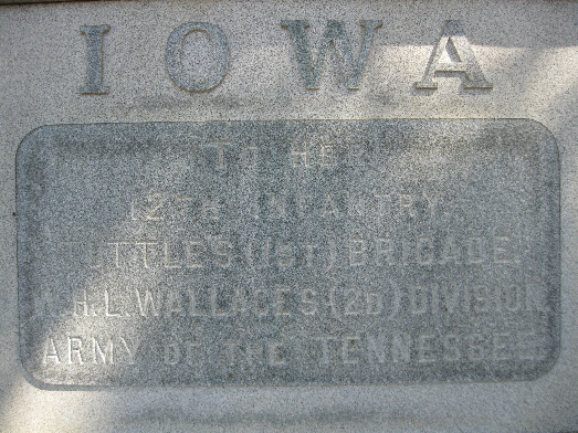 Iowa 12th Infantry Regiment Monument