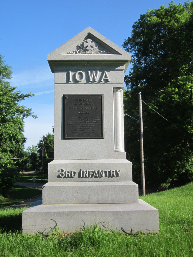 Monument for 3rd Iowa Infantry