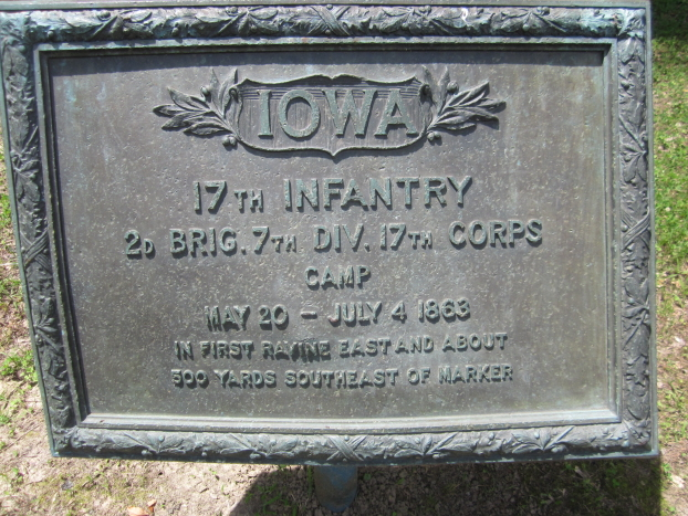 Monument for Iowa 5th, 10th and 17th Infantry Regiments