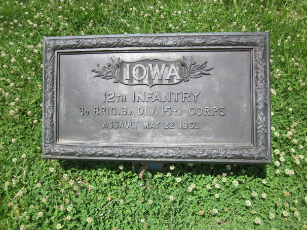 Monument for Iowa 8th, 12th and 35th Infantry Regiments