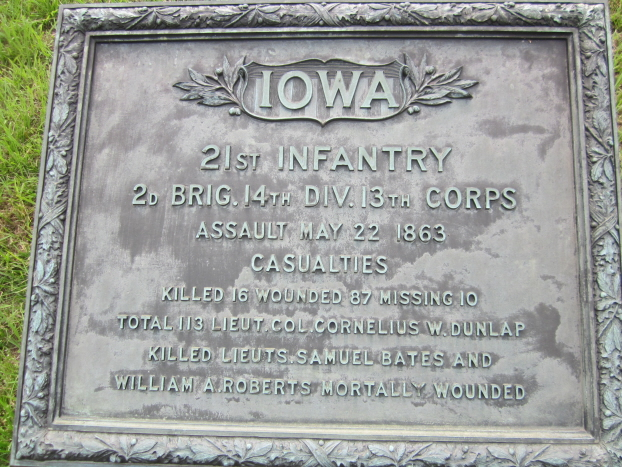 Monument for Iowa 21st, 22nd, and 23rd Infantry Regiments