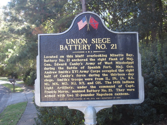 Historical Marker at Battle of Spanish Fort